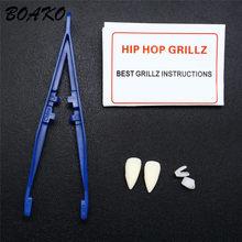 BOAKO хип хоп вампир зубы клыки костюм вечерние реквизит подарок на Хэллоуин Косплей зубной рта ювелирные изделия для мужчин женщин игрушка д...(Китай)