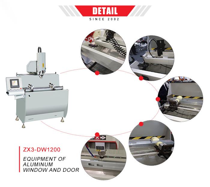 Aluminium machines voor ramen en deur gebruikt cnc freesmachine