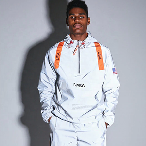 6e685090e New Arrival Unisex NASA Graphic Reflective Anorak
