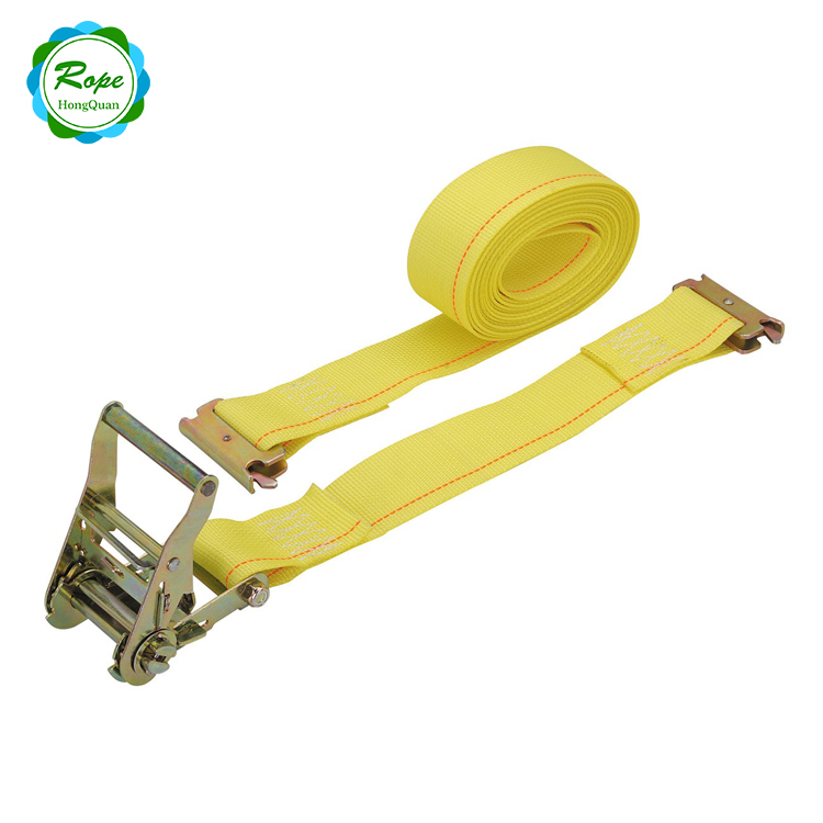 China Wholesale High Quality Certificated ratchet lashing straps set 50mm tie down with E-Track hook