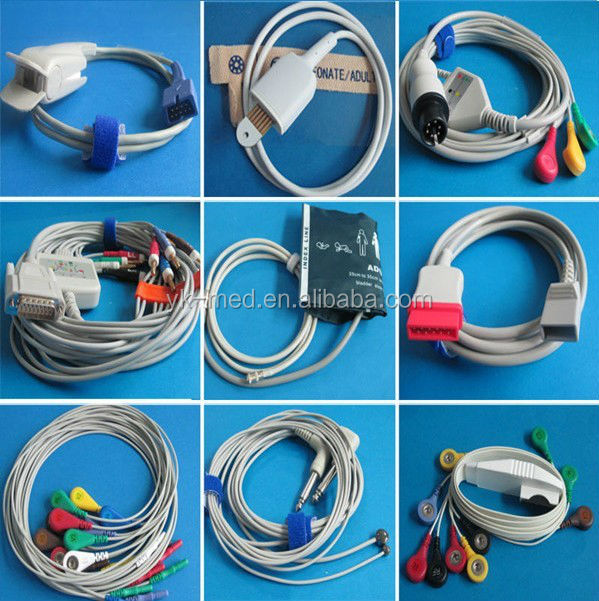 EKG leadwires general use 3.0/4.0 electrodes transfer connector, GE ecg surelock adaptor clips