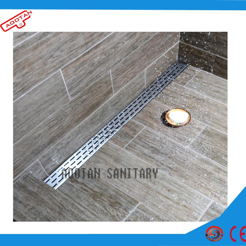 De acero inoxidable de piso lineal de rejilla de drenaje for Piso ducha bano