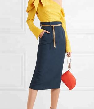 b630d2c79 Mujeres Moda Lápiz Negro Faldas Alta Cintura Slim Fit Falda Oficina Falda  Estilo Elegante - Buy Falda Lápiz Mujer,Estilo Falda De Oficina,Faldas ...