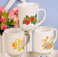 9 OZ flower decal desgin as you request white porcelain ceramic coffee cups