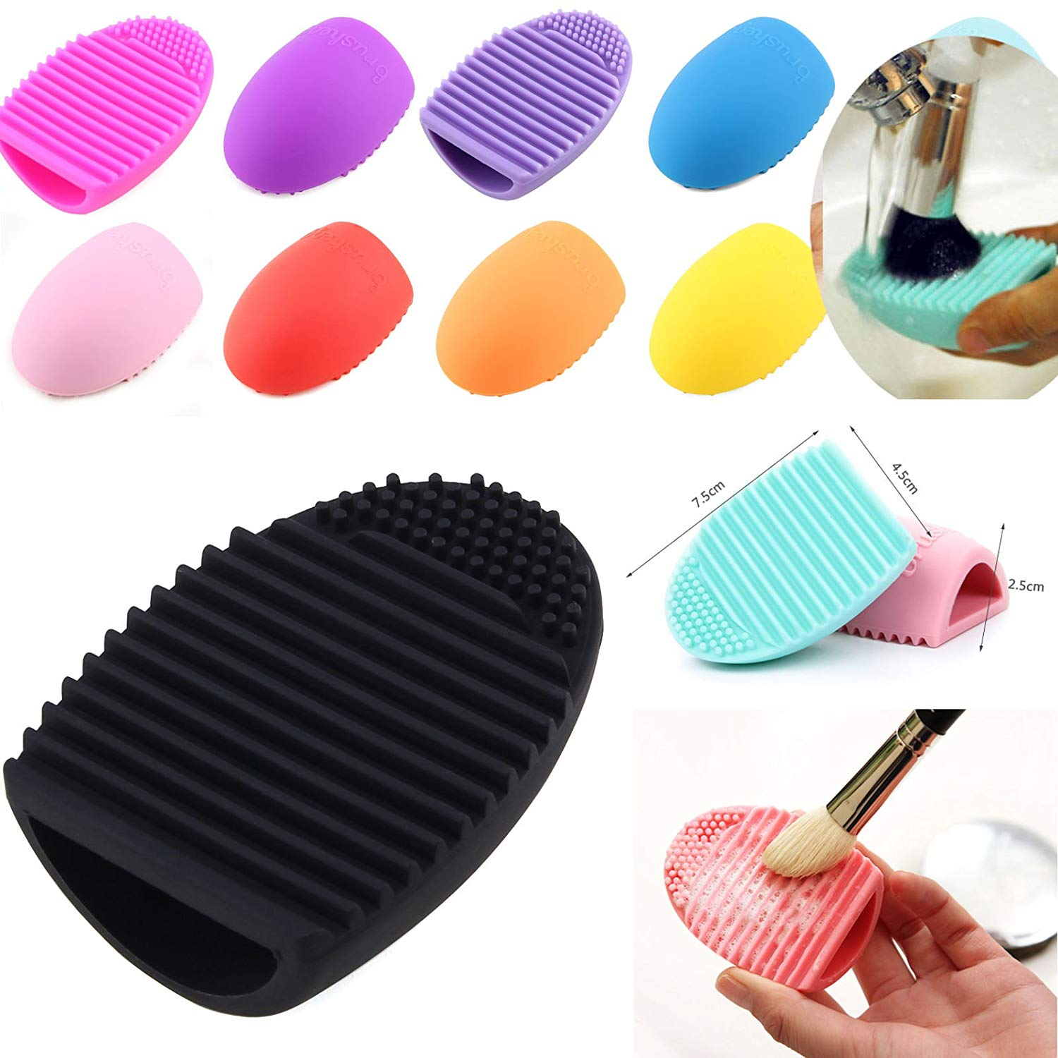 Cheap Brush Egg Find Deals On Line At Alibabacom Get Quotations 1pcs Silicone Hollow Out Cleaning Glove Makeup Washing Scrubber Tool Cleane