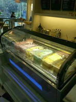 Table top gelato display fridge, commercial gelato display freezer CE