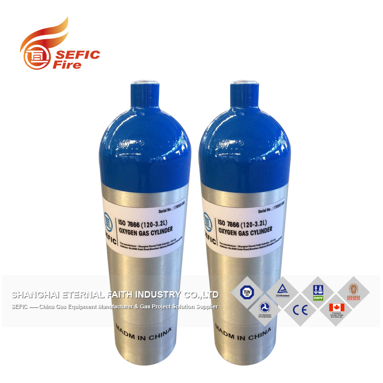 Hot-Sale 10L 150 Bar Seamless Steel Oxygen Gas Cylinder For Medical Treatment