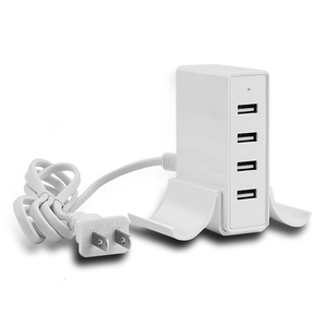 Latest product 2018 ac to dc charger FCC CE certified usb charger 5V 5A wall charger 4 usb ports