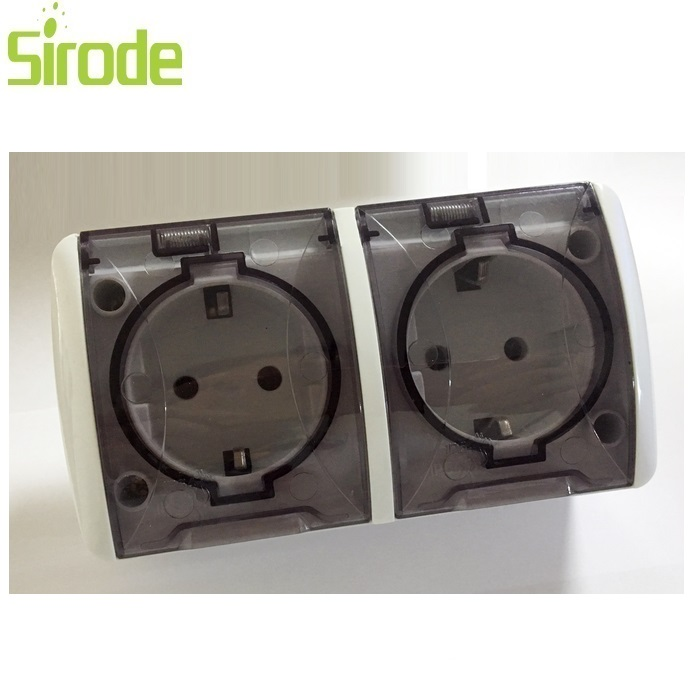 CE certification guarantee Sirode High Quality IP44 waterproof socket