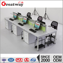 six people work station combinations office table(QE-01F-6)