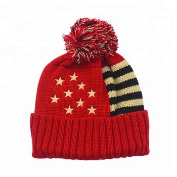 Wholesale Custom Pom Pom Knit Hat Hot Sale Warm Winter Women s Beanie Hat 73c3aec56e3