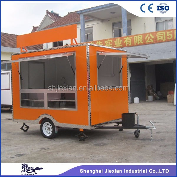 Factory Suply JX-FS280 Camping Concession Food Truck Kitchen Trailer For Sale