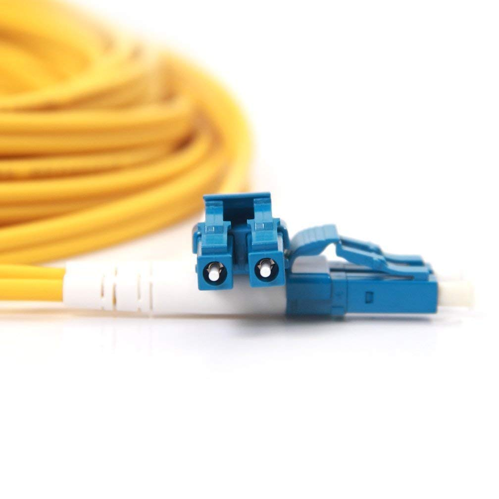 OS2 LC to LC Fiber Patch Cable Singlemode(SMF) Duplex 9/125,50-Meter (165ft), for Connections to CATV, Telecommunication Networks, Computer Fiber Networks, Fiber Test Equipment and SMF SFP Module