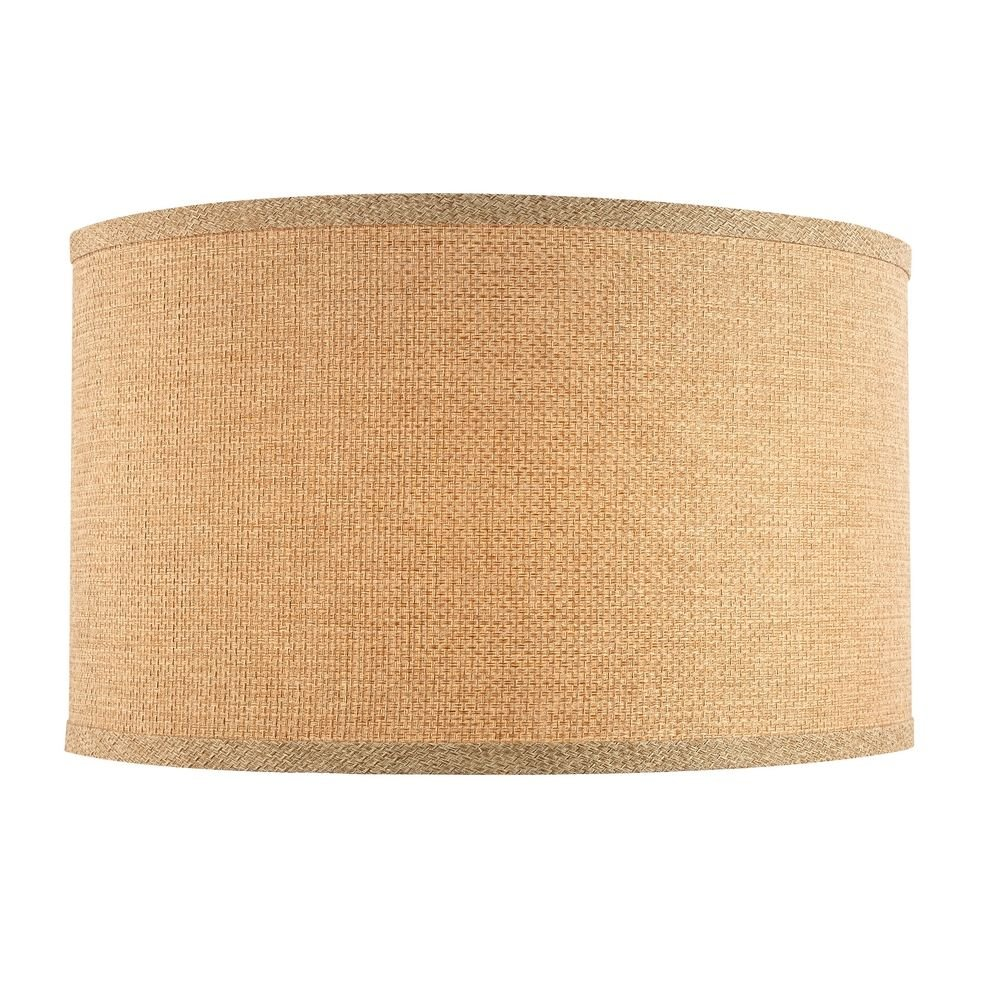 Linen Large Drum Lamp Shade with Spider Assembly - 17-Inches Wide