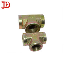 20 years manufactures tee carbon steel tee adapter,hdyraulic hose fittings from hebei factory