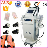 AU-62B standing 2.0 Cavitation good effect Radio Frequency RF double vcuum cupping laser slimming beauty machine