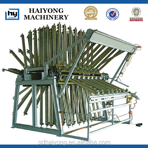 Pneumatic wood composer rotary clamp carrier for wood