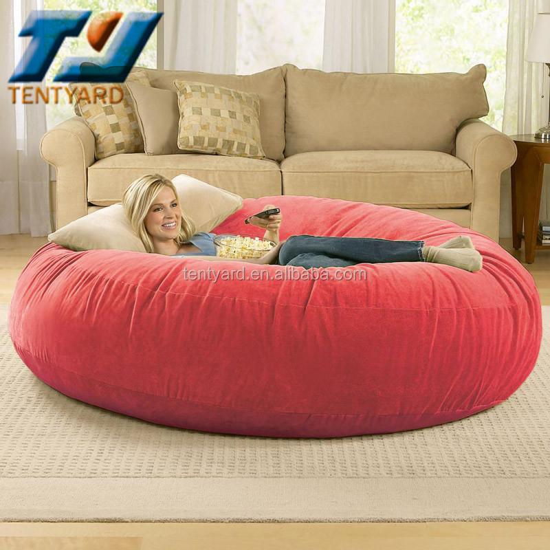 derniers vente vert sac de haricot rond canap lit rond et souple coner pouf pour sommeil. Black Bedroom Furniture Sets. Home Design Ideas