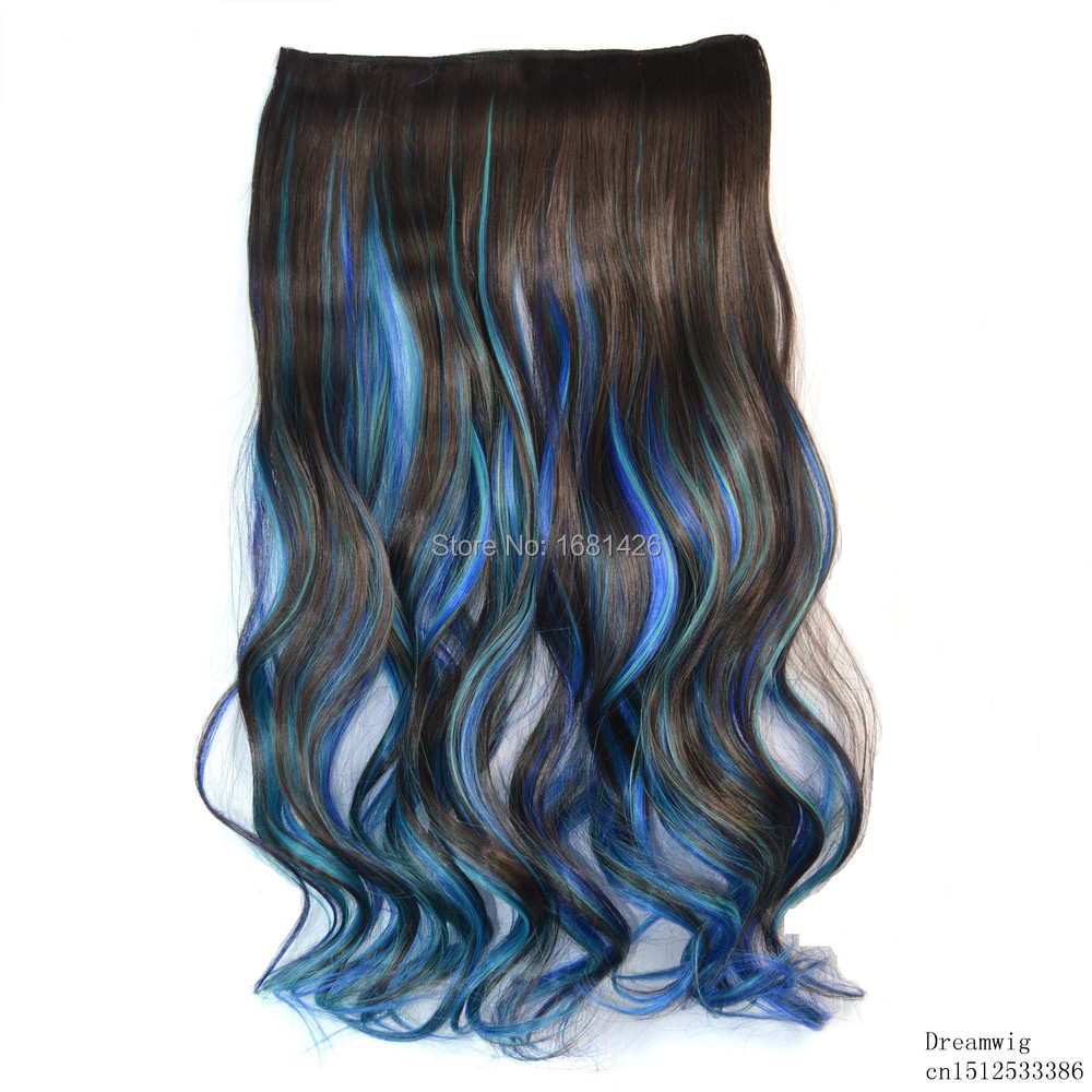Buy Dreamwig Blonde To Dark Blue Ombre Curly Curl Wavy High