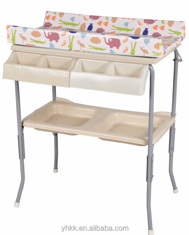 Plastic Baby Changing Table With Bathtub