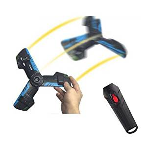 NiGHT LiONS TECH Rechargeable Flying Saucer Boomerang with Flashing Lights, 360 Hoverblade Delta Wing Aircraft Flying UFO Toy