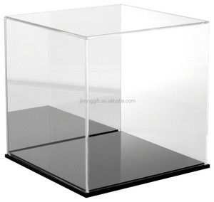 Wholesale price small black acrylic display boxes