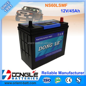 12V 45Ah Factory Direct Supply Exide Type NS60L MF Car Battery