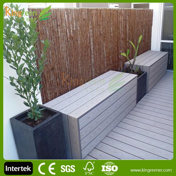 De pl stico reciclado cubierta juntas barato terraza jard n tableros de madera paneles de la - Paneles de madera para jardin ...