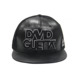 Custom 3D Embroidery Logo Mesh Trucker Caps Black Leather Snap Back Hat Sports Cap For Men