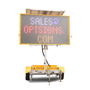 OPT VMS-400-1 Amber Color Highway Led Portable Signs,Traffic Solar Led Message Board,Trailer Mounted VMS