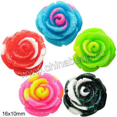 Hot sell resin bead Rose Flower Beads for jewelry making