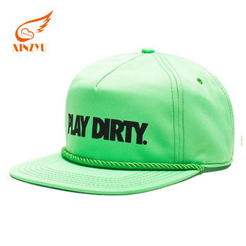 Wholesale Custom Suede Rope Cap Nylon Mesh Snapback Hats Plastic Buckle 2bc5911a844
