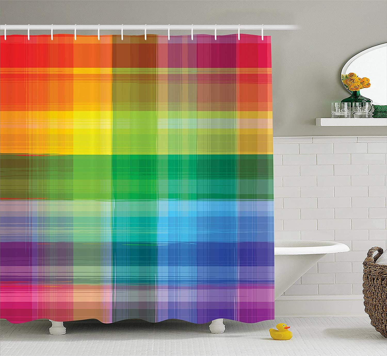Buy Stage With Rainbow Colored Curtain 8 X 12 Cp Backdrop
