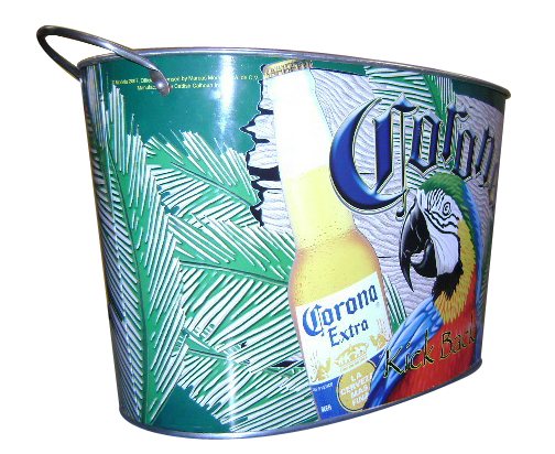 Large 15L Tinplate Ice Bucket for Party