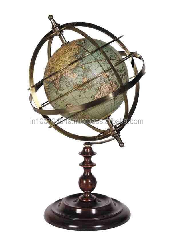 modern marine world globedecorative globe with wooden standitem number sai 2277 buy decorative desktop world globewooden world globeunique world - Decorative Globe