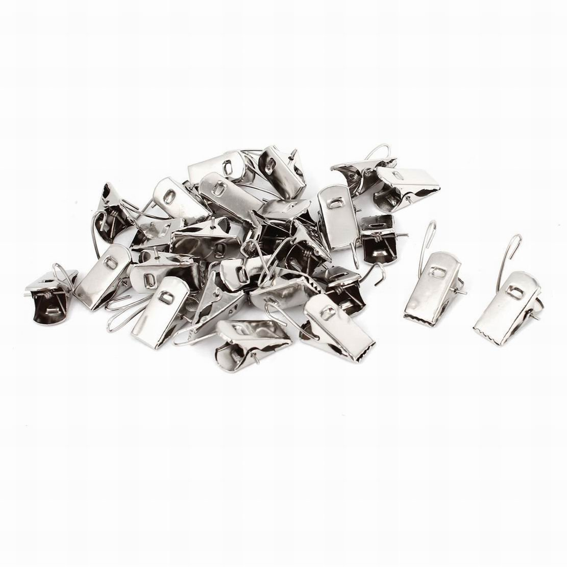 Fuxell Metal Window Drapes Curtain Clips Clamps 40 Pcs Silver Tone