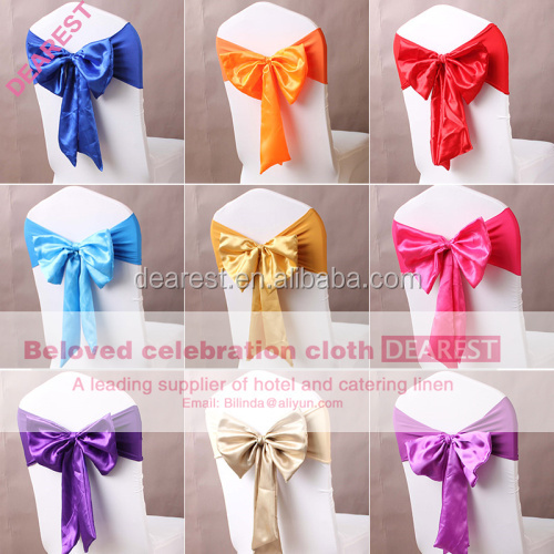 satin sashes for special events wedding ,chair bows with butterfly