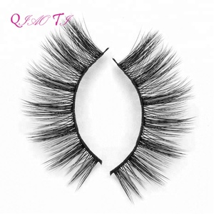 Wholesale high end silk hair 3d black cotton tapered false eyelashes