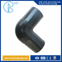 Easily welded and operated butt welding hdpe pipes fitting 90 degree elbow