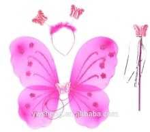 2019 Hot Sell baby girls Butterfly fairy wings 3 pieces set
