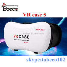 2016 fit for Android/Win/IOS system 3d VR BOX Virtual Reality Headset VR case 5 plus