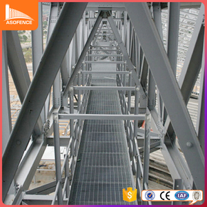 galvanized catwalk metal grid steel grating, steel walking platform / grating steel wholesale