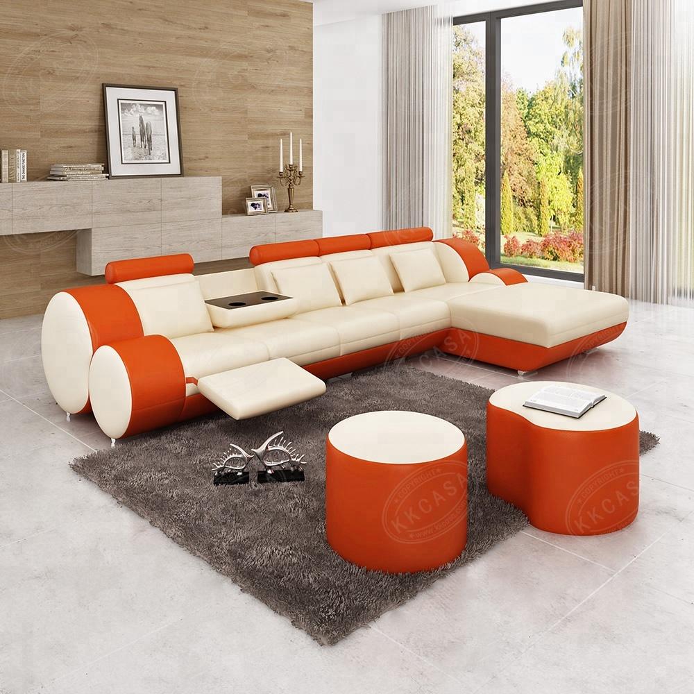 Modern house popular european leather dubai diwan sofa set furniture