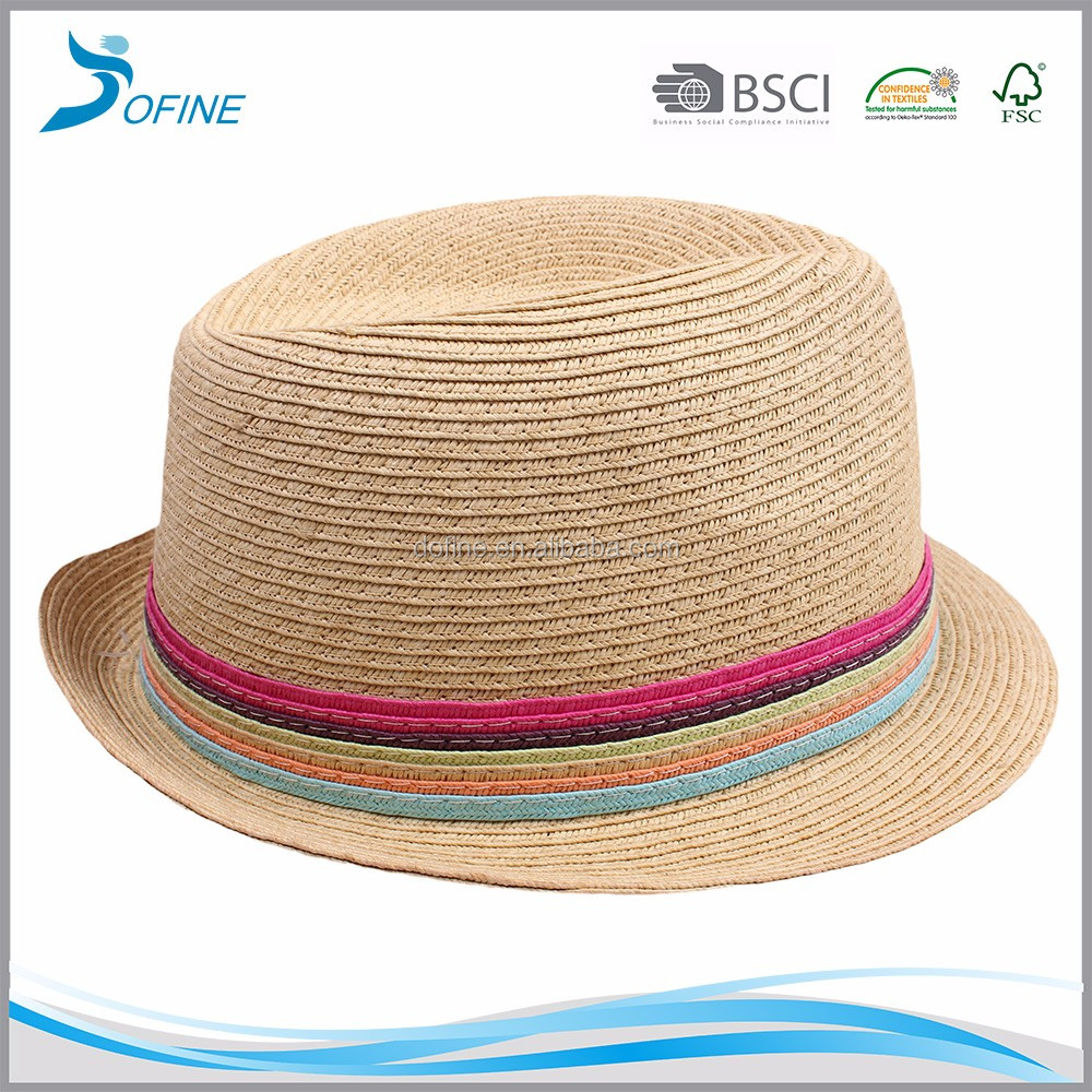 Cheap women newest wholesale promotional plain natural panama 100% Paper Straw hat