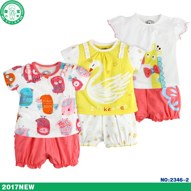No.2306/ hot sale summer funky car kids clothing baby clothes