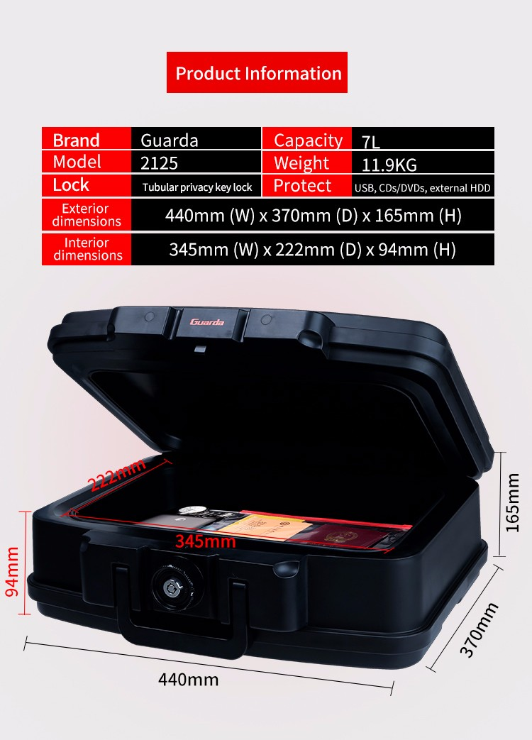 Guarda 370mm fireproof safe for business for bank-2