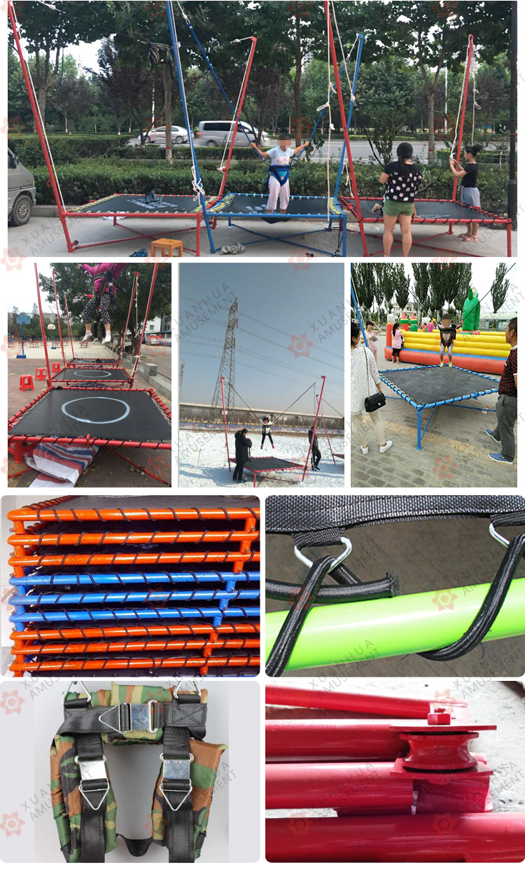 Bungee Jumping Trampolin Mesin Bungee Cord Melompat Set