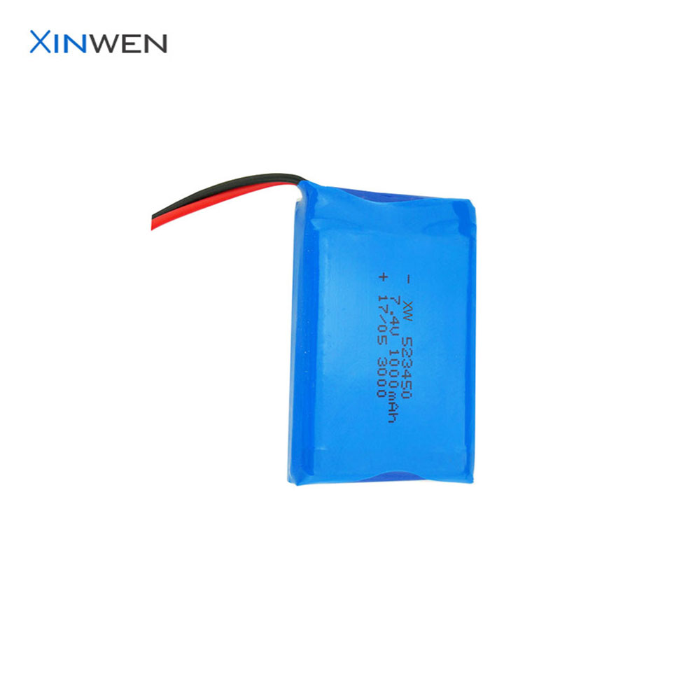 cheap China battery XW 523450 2S1P li-ion battery 7.4v 1000mah with PCB