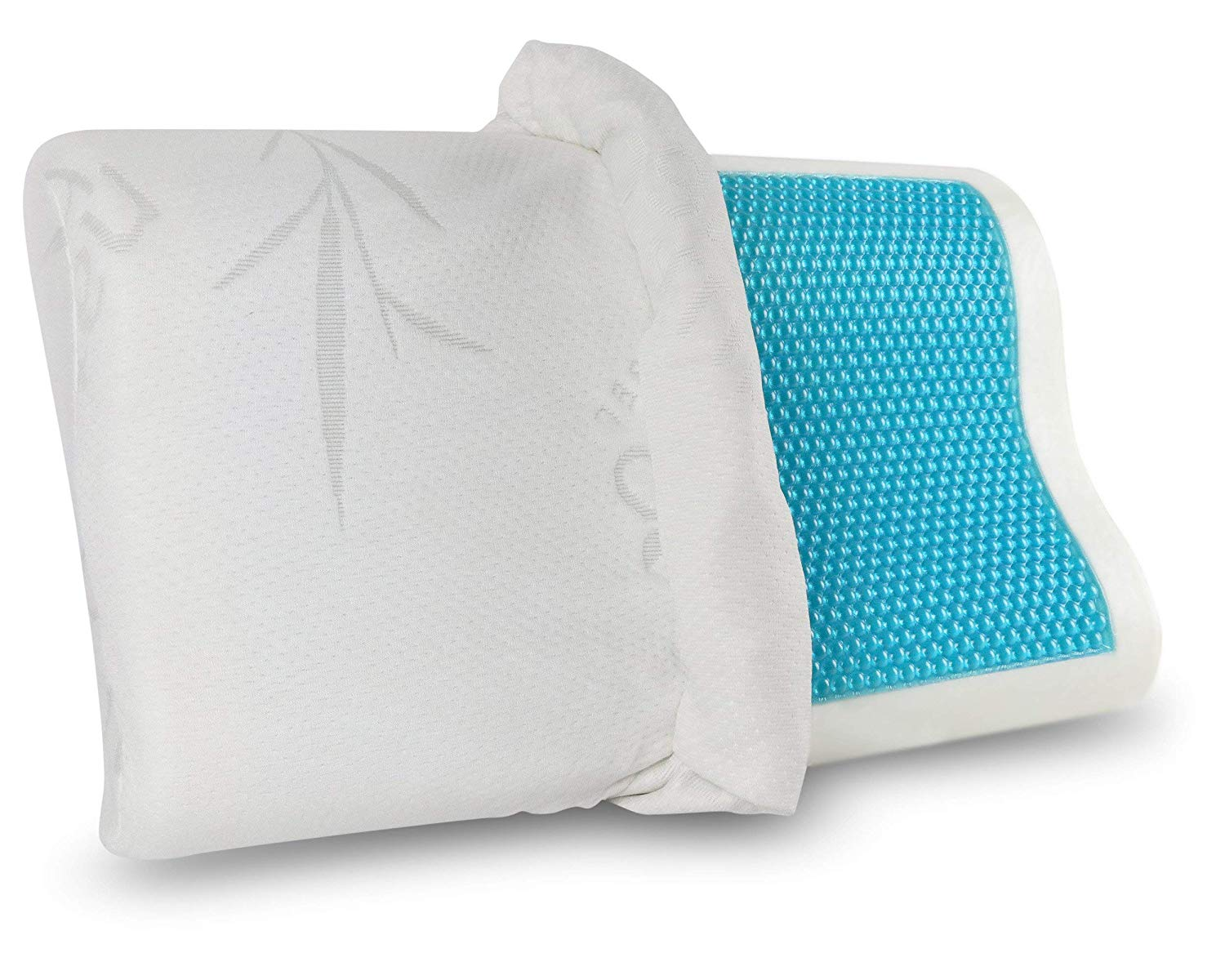 "Wholesale Contour Memory Foam Pillow with Cooling Gel for Neck Pain 20""x12"""