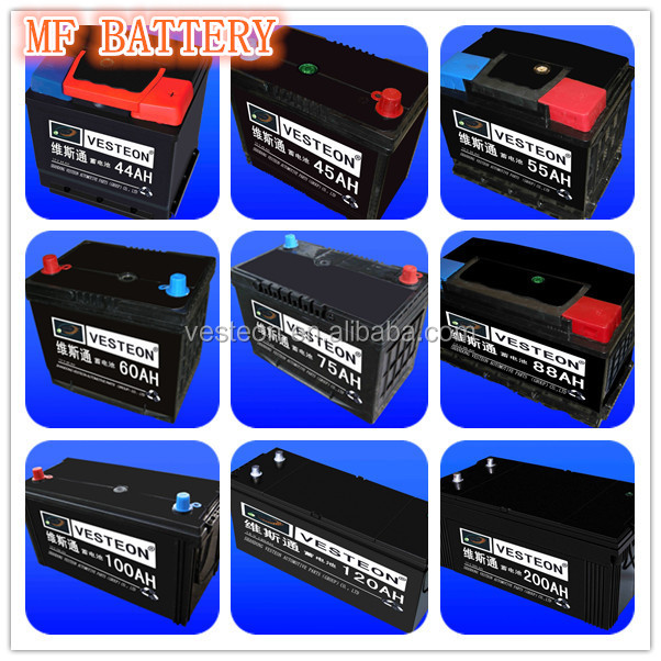 12V AUTO maintenance free car battery price from32AH to 220AH
